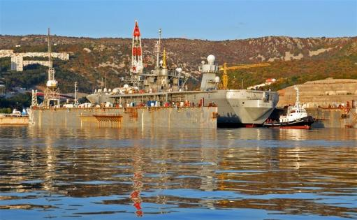 USS Mount Whitney repair in Viktor Lenac shipyard, Croatia