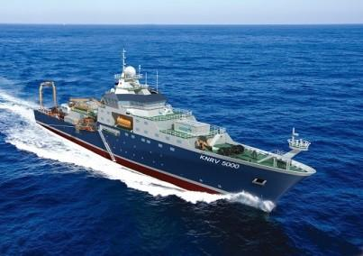 Korea government ocean research vessel